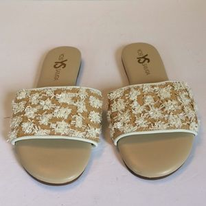 New Yosi Samra Reese Lemonade Flat Sandals